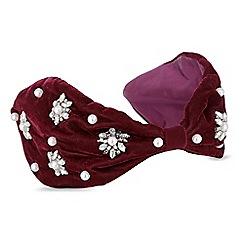 Mood - Red pearl embellished headband