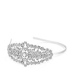 Mood - Silver plated clear side profile aliceband hair