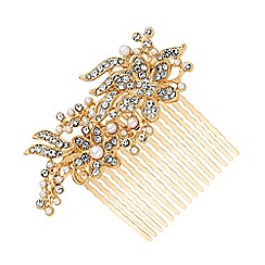 Mood - Gold Plated Clear Hair Comb