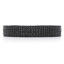 Mood - Jet diamante row choker necklace