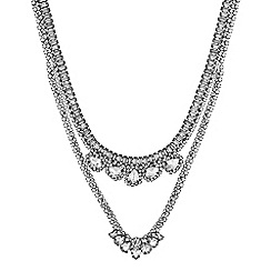 Mood - Crystal cluster multi row necklace