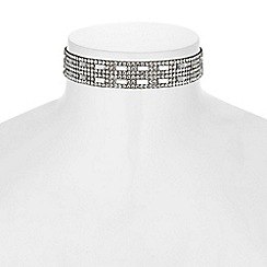 Mood - Crystal mosaic choker necklace