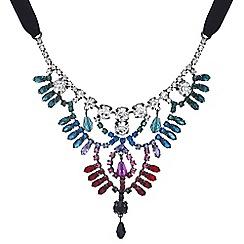 Mood - Crystal rainbow statement necklace