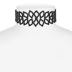 Mood - Crystal leaf choker necklace