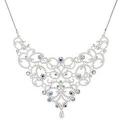 Mood - Pearl statement bib necklace