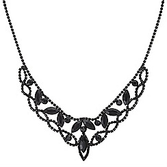 Mood - Jet diamante collar necklace