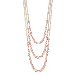 Mood - Pink pearl multi row necklace