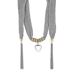 Mood - Heart charm scarf necklace