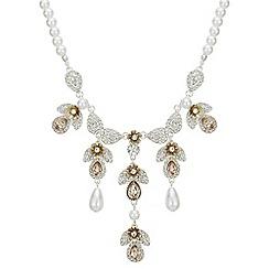 Mood - Crystal floral droplet necklace
