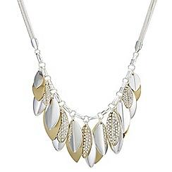 Mood - Pave leaf droplet necklace