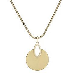 Mood - Brushed metal disc necklace