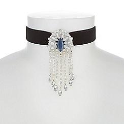 Mood - Crystal fan droplet choker necklace