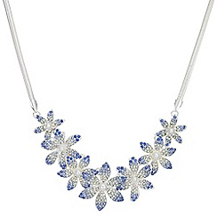 Mood - Crystal flower necklace