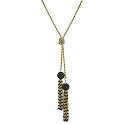 Mood - Beaded tassel lariat necklace