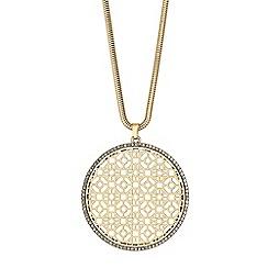 Mood - Large filigree disc necklace