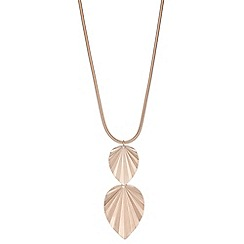 Mood - Leaf drop long necklace