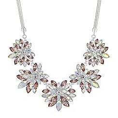 Mood - Crystal floral statement necklace