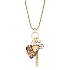 Mood - Heart charm pendant necklace