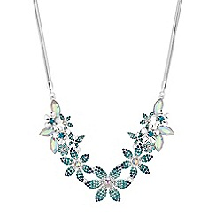 Mood - Crystal floral statement necklace