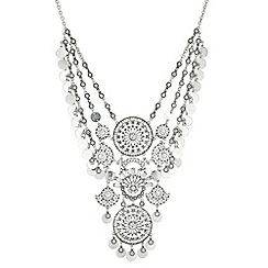 Mood - Crystal disc statement necklace