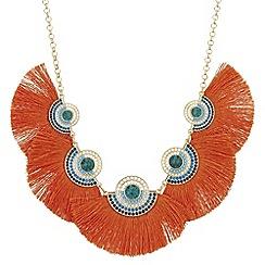 Mood - Metallic fringe statement necklace