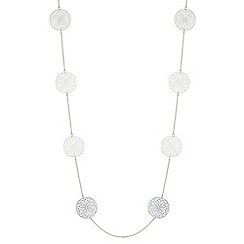 Mood - Filigree disc rope necklace