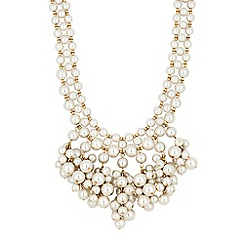 Mood - Cream pearl cluster statement necklace
