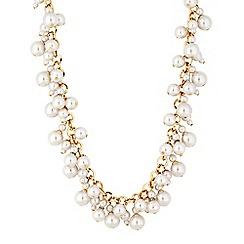 Mood - Gold pearl cluster charm necklace