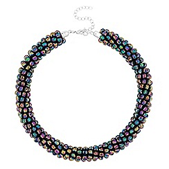Mood - Multi colour beaded collar necklace