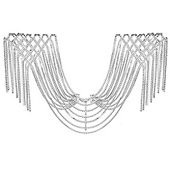 Mood - Silver diamante statement shoulder cape