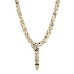 Mood - Gold crystal pave link lariat necklace