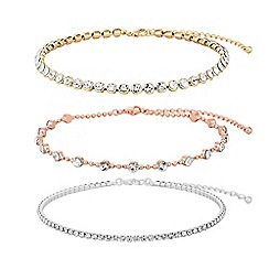 Mood - Mixed plate clear 3 pack choker necklace