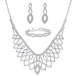 Mood - Silver diamante jewellery set