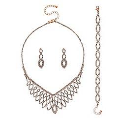Mood - Rose gold diamante jewellery set