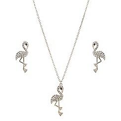 Mood - Crystal flamingo jewellery set
