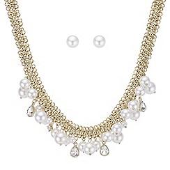 Mood - Pearl and crystal shaker jewellery set