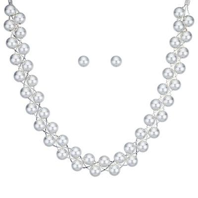 Mood Silver ball twist jewellery set | Debenhams