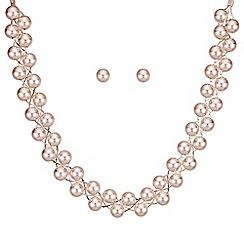 Mood - Rose gold ball twist jewellery set