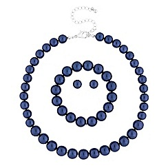 Mood - Blue pearl jewellery set