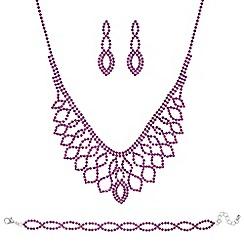 Mood - Pink diamante jewellery set