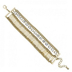 Mood - Diamante crystal and gold stick bracelet