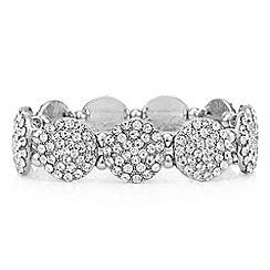 Mood - Silver pave disc bracelet