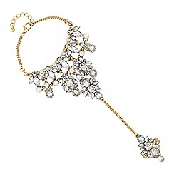 Mood - Crystal cluster ornate hand chain