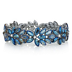 Mood - Blue crystal floral bracelet