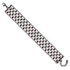 Mood - Red diamante bracelet