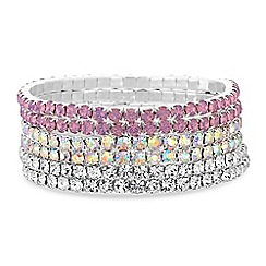 Mood - Pink crystal bracelet set