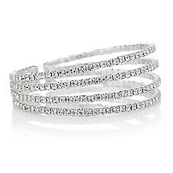 Mood - Diamante row cuff bracelet