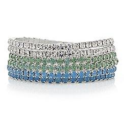 Mood - Pastel crystal bracelet set