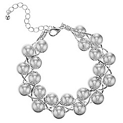 Mood - Silver ball twist bracelet