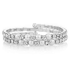 Mood - Diamante pearl coil bracelet